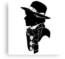 4th doctor silhouette logos Canvas Print