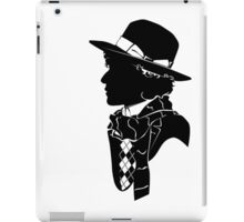 4th doctor silhouette logos iPad Case/Skin