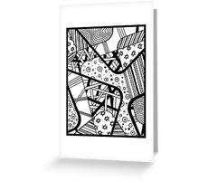 Miniature Aussie Tangle 12 Black on White Background Greeting Card