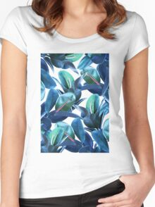 Rubber Plant #redbubble #lifestyle Women's Fitted Scoop T-Shirt