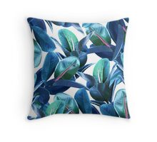 Rubber Plant #redbubble #lifestyle Throw Pillow