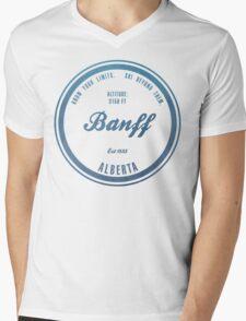 Banff Ski Resort Alberta Mens V-Neck T-Shirt