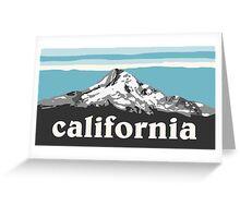 Blue California Greeting Card