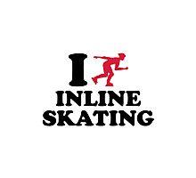 I love Inline Skating Photographic Print