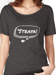 Kiwi in Straya - White Women's Relaxed Fit T-Shirt