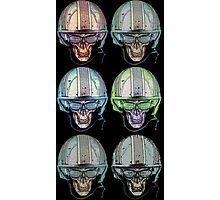 Undead Biker helmet Skull Zombies multi Photographic Print