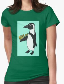Hello African Penguin Womens Fitted T-Shirt