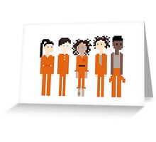 Pixel Asbo 5 Greeting Card