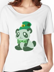 St. Patrick's Day Panda Women's Relaxed Fit T-Shirt
