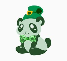 St. Patrick's Day Panda Womens Fitted T-Shirt