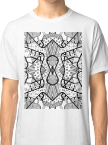 Miniature Aussie Tangle 12 Pattern in Black Classic T-Shirt