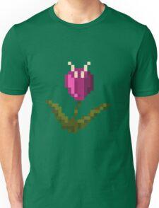 Purple Pixel Flower Unisex T-Shirt