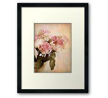 Pastel Roses Framed Print