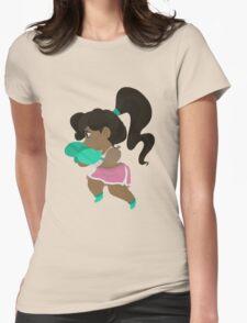 Cute Little Boxer Girl Womens Fitted T-Shirt