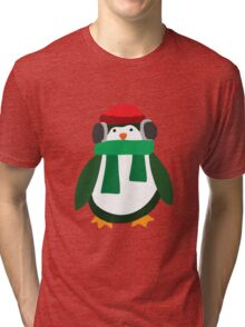 Snow Penguin  Tri-blend T-Shirt