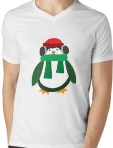 Snow Penguin  Mens V-Neck T-Shirt