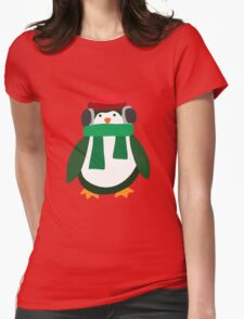 Snow Penguin  Womens Fitted T-Shirt