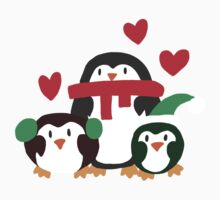Holiday Heart Penguins Kids Clothes