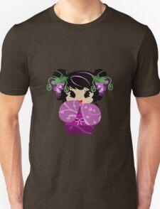 Purple Grapes Kokeshi Doll T-Shirt