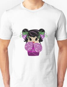 Purple Grapes Kokeshi Doll Unisex T-Shirt