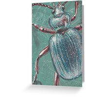 Shiny Beetle Greeting Card