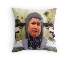 Mia sorry Throw Pillow