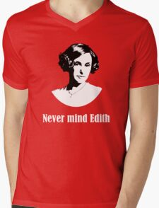Never mind Edith Mens V-Neck T-Shirt