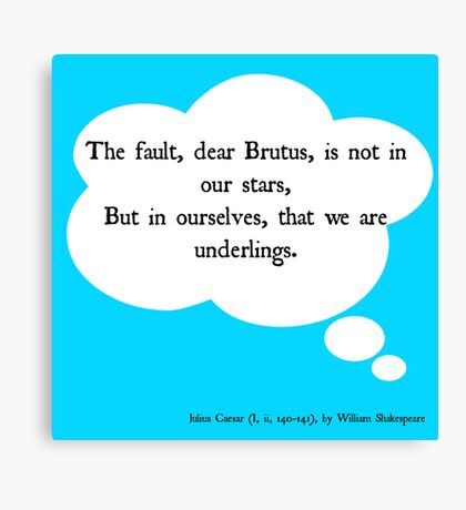 The (Real) Fault in Our Stars Canvas Print