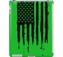 Dripping American Flag Black iPad Case/Skin