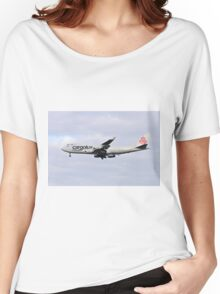 LX-TCV Cargolux Italia Boeing 747-4R7F at Milan - Malpensa Women's Relaxed Fit T-Shirt