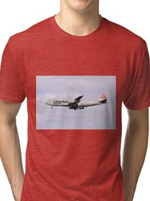 LX-TCV Cargolux Italia Boeing 747-4R7F at Milan - Malpensa Tri-blend T-Shirt