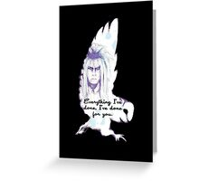 Labyrinth Everything I've Done Owl Greeting Card