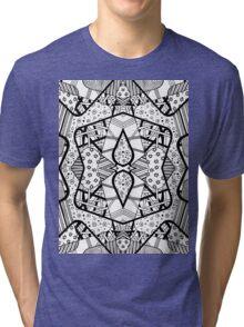 Miniature Aussie Tangle 12 Pattern in Black Alternate Options Tri-blend T-Shirt