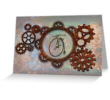 STEAMPUNK PENNY FARTHING BICYCLE DESIGN Greeting Card