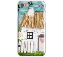 Mixed Media Thatched Cottage iPhone Case/Skin