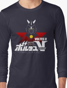 JAPAN CLASSIC RETRO ANIME ROBOT VOLTES V FIVE  Long Sleeve T-Shirt