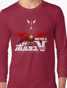 JAPAN CLASSIC RETRO ANIME ROBOT VOLTES V FIVE  Long Sleeve T-Shirt