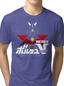 JAPAN CLASSIC RETRO ANIME ROBOT VOLTES V FIVE  Tri-blend T-Shirt