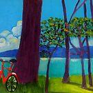 Biking Through West Cross by Rusty  Gladdish