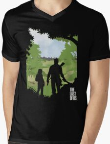 The Last of Us into the woods Mens V-Neck T-Shirt