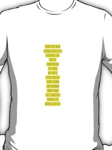 Youtube List T-Shirt