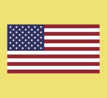 American Flag Dress - USA Stars & Stripes Skirt Kids Tee