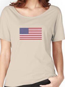 American Flag Dress - USA Stars & Stripes Skirt Women's Relaxed Fit T-Shirt
