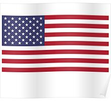 American Flag Dress - USA Stars & Stripes Skirt Poster
