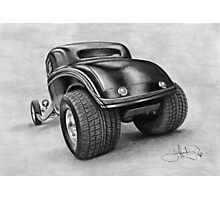 34 ford coupe hotrod drawing Photographic Print