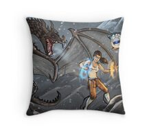 """Shouting with Portals"" Throw Pillow"