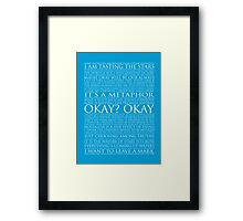 The Fault In Our Stars Block Typography Print Framed Print