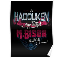 A Hadouken A Day Keeps M.Bison Away Poster