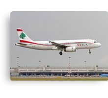 OD-MRO MEA - Middle East Airlines Airbus A320-232 at Milan airport  Canvas Print