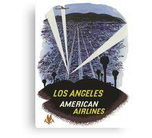 Los Angeles America Air Lines Vintage Travel Poster Canvas Print